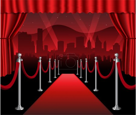 Red carpet movie premiere elegant event with holly...