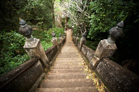 Old temple stairs