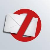 Vector spam icon Envelope background
