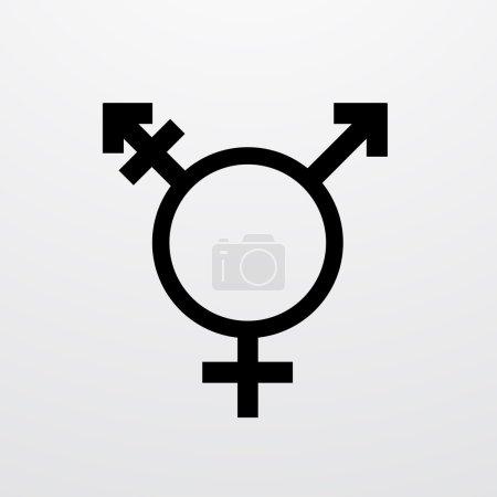 Vector modern transgender symbol on white background.