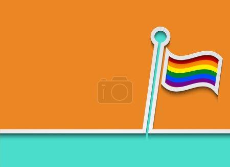 Vector modern lgbt flag background.