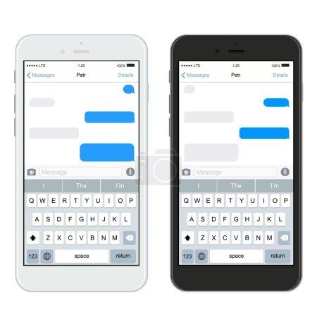 Illustration pour Vecteur des smartphones réalistes modernes isolés sur fond blanc - image libre de droit