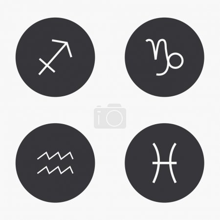 Vector modern sings of the zodiac  icons set
