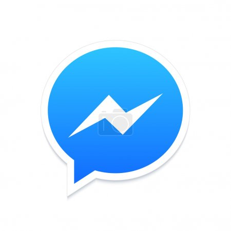 Illustration for Vector modern chat app icon on white background - Royalty Free Image