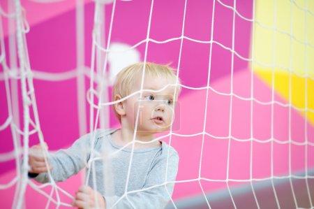 Toddler in indoors sport court
