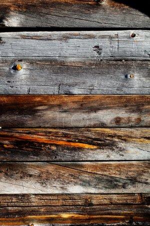 Foto de Cerca de textura de madera resistida - Imagen libre de derechos