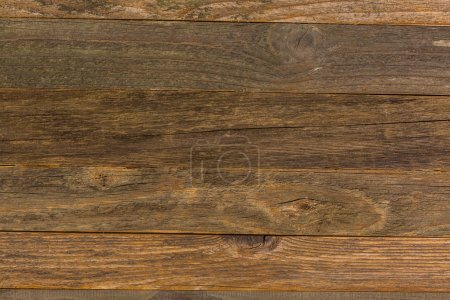 Stained wooden boards