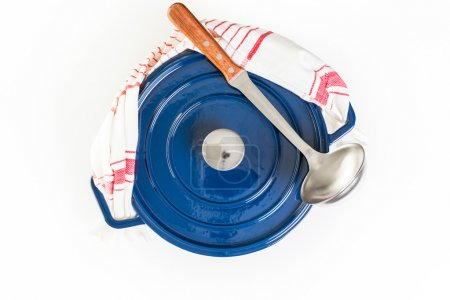 Dutch oven blue cast iron