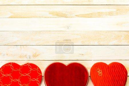 Boîtes de chocolats fins en forme de coeur