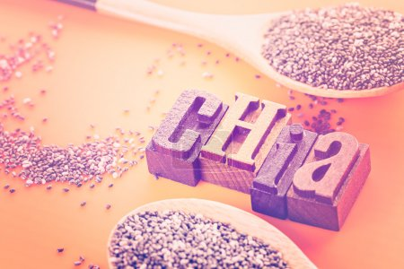Healthy Chia seeds close up