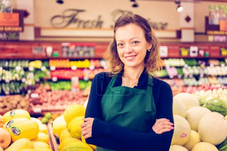 clerk at Grocery store