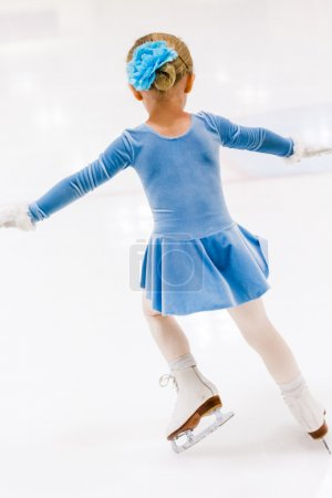 Girl practicing figure skating