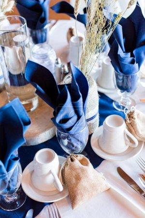 salle de banquet décoré pour mariage