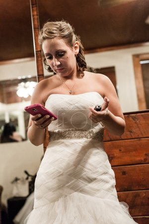 Wating mariée dans sa chambre