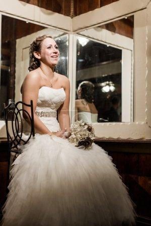 Bride wating in her room