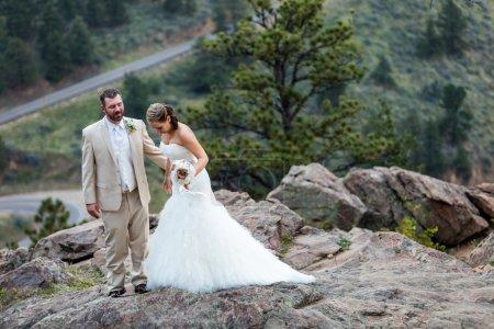 petit mariage en plein air