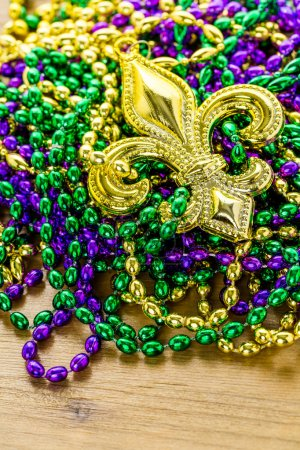 Multicolored decorations for Mardi Gras