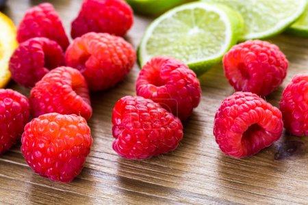 Sliced fresh organic fruits