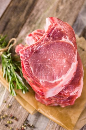 Organic pork lion chops