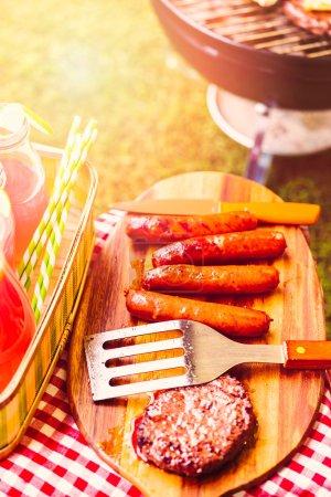 Summer picnic view