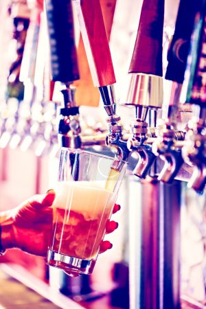 Close up of beer lines