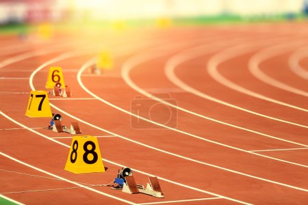 Photo for Starting block in track and field - Royalty Free Image