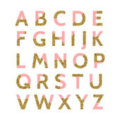 Pink and Gold Glitter Font