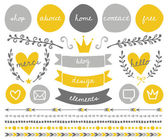 Blog Design Elements Collection