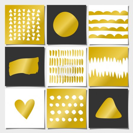Abstract Geometric Greeting Card Templates