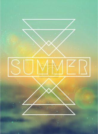 Abstract Geometric Summer Design