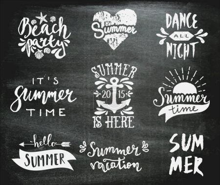Chalkboard Typographic Summer Designs