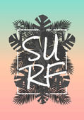 Typography and Palm Leaves Design