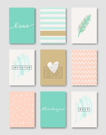 Romantic Wedding Cards Collection