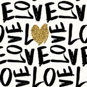 Love Typographic Seamless Pattern