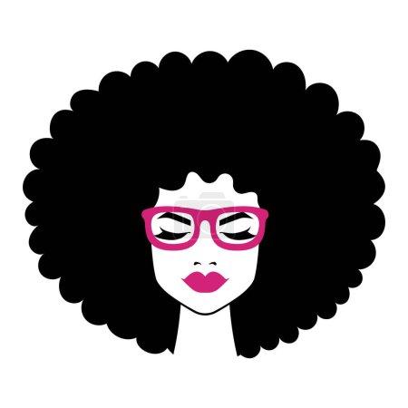 Illustration pour Femme noire illustration, afro américaine fille - image libre de droit