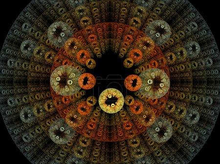 Photo pour Illustration de rendu 3D de bactéries colorées - image libre de droit