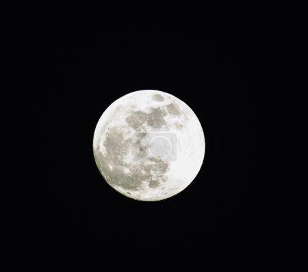 Full moon taken with zoom lens