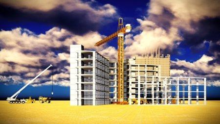 Photo pour Différentes machines sur le chantier - image libre de droit