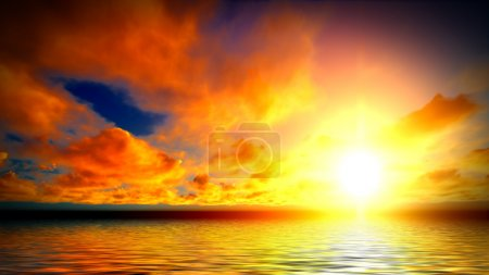 Photo for Beautiful sunset over the ocean - Royalty Free Image