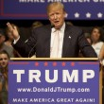 Oskaloosa, Iowa - July 25, 2015: Donald Trump make...