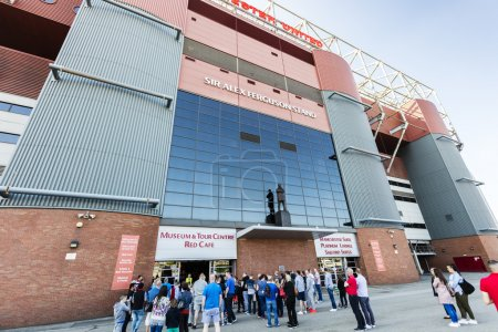 Photo pour MANCHESTER, ANGLETERRE - 29 MAI 2016 : Stand Sir Alex Ferguson au stade Old Trafford . - image libre de droit