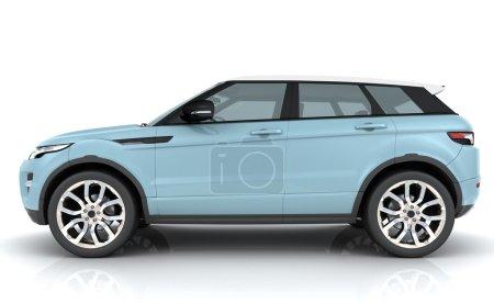Photo pour Rover Range bleu clair sur fond blanc - image libre de droit