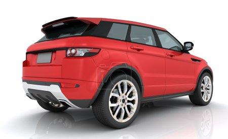 Photo pour Rover Red Range sur fond blanc - image libre de droit