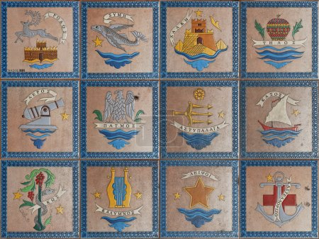 Emblems of the Greek islands