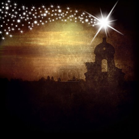 Belfry and Star of Bethlehem christmas card