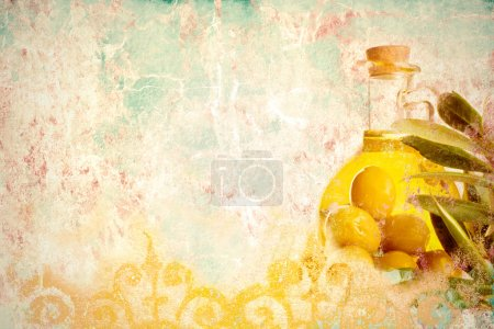 Olive oil grunge background