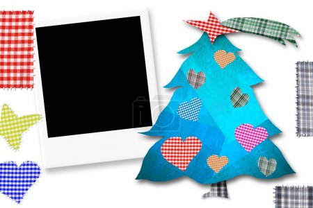 Children Christmas Card with photoframe