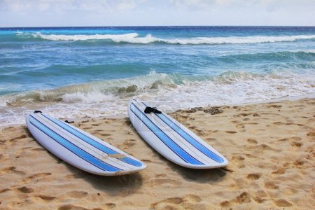 Surfboards at beach
