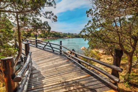 small wooden bridge in Porto Cervo