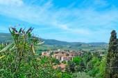 """Постер, картина, фотообои """"Тоскана пейзаж на четкие весенний день"""""""